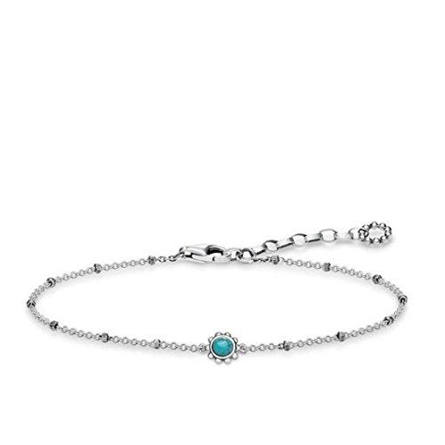 Thomas Sabo Damen-Armband Ethno Türkis 925 Sterling Silber geschwärzt Türkis A1670-878-17-L19v