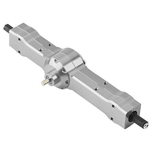 Dilwe RC Getriebe, Aluminiumlegierung Hinterradgetriebe Achsschachtel für WPL 1/16 Military Truck RC Auto Verbessertes Teil( Titangrau)