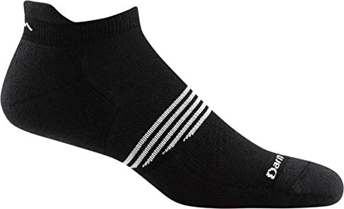 Darn Tough Element No Show Tab Lightweight Sock with Cushion - Men's Black Large