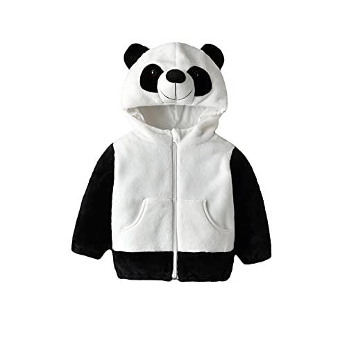 Unisex Baby Fleece Full Zip Hoodies Sweatshirt Jacket Infant Sweater Outerwear Coat Toddler Full Zip Hoodie for Children (Rabbit, 0-6M)