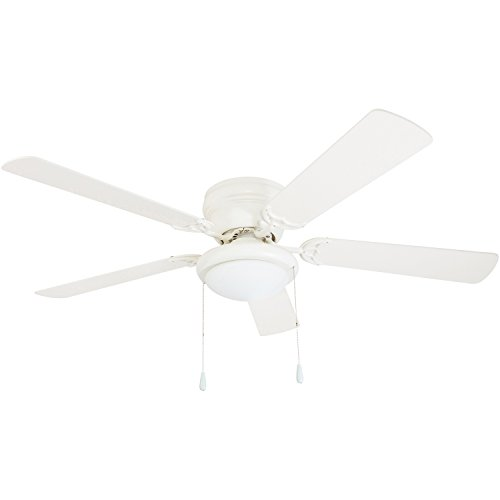 """Portage Bay 50254 Hugger 52"""" White West Hill Ceiling Fan with Bowl Light Kit"""