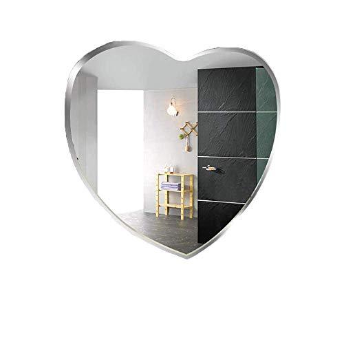 SIMNO JIAHONG Espejo de Maquillaje Espejo de baño Espejo de baño con Forma de corazón Maquillaje Espejo de Pared Colgando de la Pared Espejo de baño de Pared baño baño Espejo Decorativo