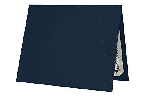 LUXPaper Certificate Holders for 8 1/2 x 11 Certificates or Documents in 100 lb. Nautical Blue Linen, Display Folder for Paper Awards, 25 Pack, Holder Size 9 1/2 x 12 (Blue)