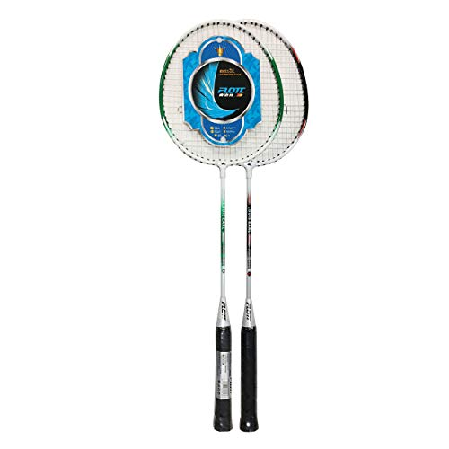 YoungLA Flott Badminton Rackets for Adults and Kids | 2 Player Set with 3 Shuttlecocks & Carrying Bag | 0584