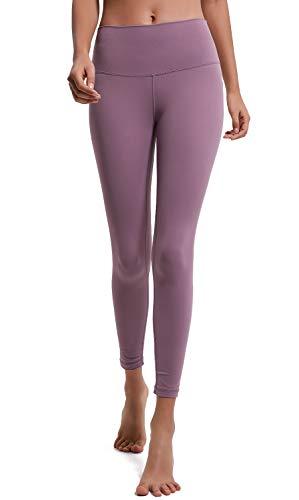Lavento Leggins tobilleros para mujer, cintura alta, control de barriga, pantalones de yoga -  Rosa -  4 US