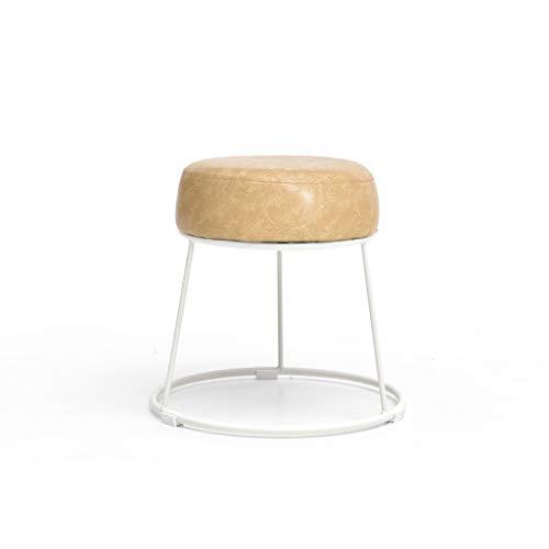 sgabello divano famiglia PU cuoio ferro semplice creativo salotto piccolo panchina pigro scarpe sedie (Colore: marrone chiaro, Dimensioni: S)