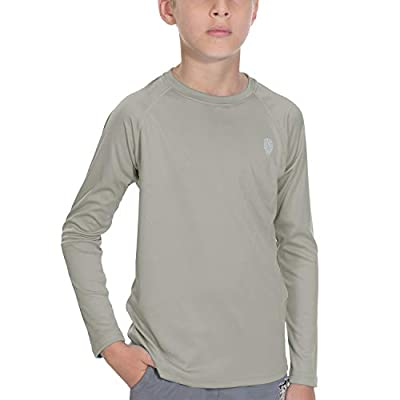 Youth Sun Protection UPF 50+ UV Outdoor Long Sleeve Rashguard for Fishing Hiking