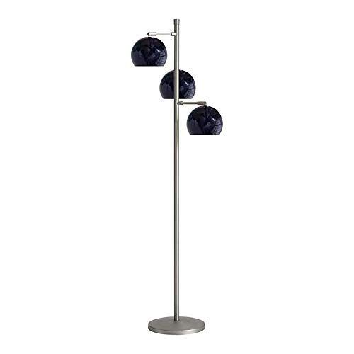 GWXSST Led Lámpara de pie Moderna Minimalista lámpara de pie de la Sala Dormitorio Lámpara de pie (Color : Black)
