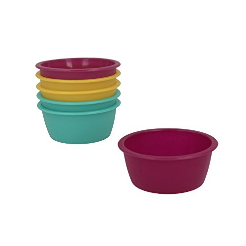 Metaltex 252394 Mini Moule a Cake 6 pcs, Silicone, Multicolore, 8 cm de diametre