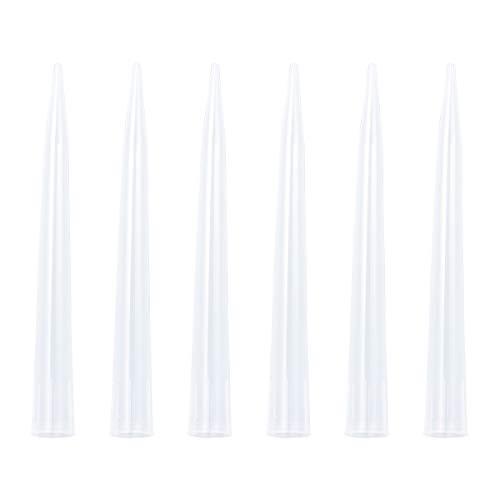 Iplusmile 50 Piezas 10 ml Puntas de pipeta líquidas Reemplazo Laboratorio científico Plástico Suavemente Boquilla Consejos para Laboratorio
