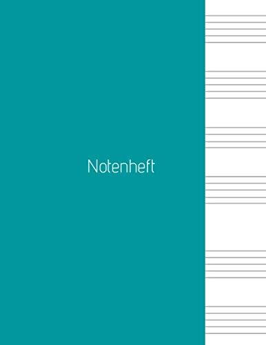Notenheft: Notenheft,notenblatt leer,notenheft blanko,Dickes Notenbuch -  100 Seiten -  hohe Qualität