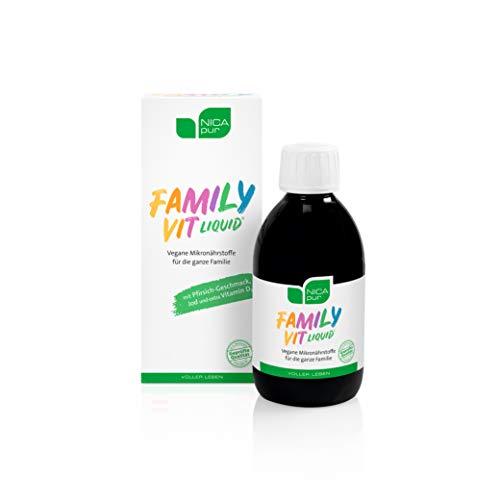 NICApur Multivitamine: FamilyVit liquid® für Kinder & Erwachsene ohne Zucker - hergestellt in Österreich