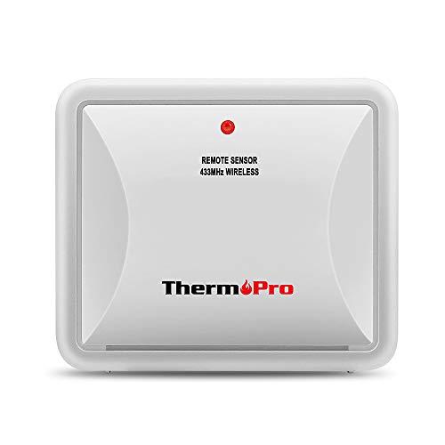 ThermoPro TPR60 Sensore Esterno Impermeabile per TP60S/TP65 Monitor Temperatura e Umidità, Batteria Inclusa (Solo Accessorio, NON può Essere Usato da Solo)
