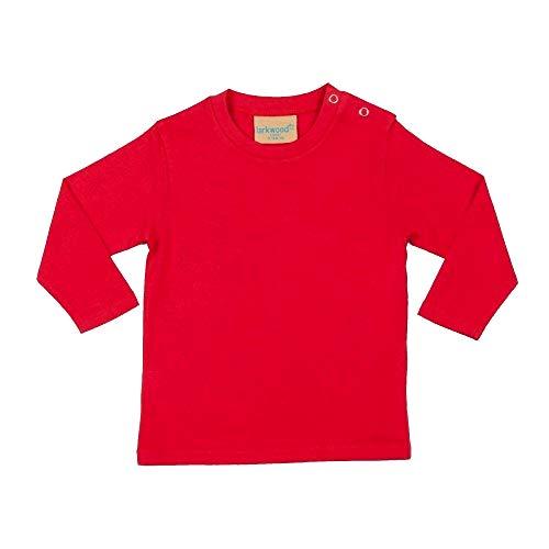Larkwood- Camiseta de manga larga lisa para bebé unisex (18-24 meses/Rojo)