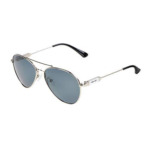 ActiveSol Pilotenbrille für Kinder   αKids Designer Sonnenbrille   polarisiert   Flieger-Brille für Mädchen & Jungen   UV400 Schutz   Memory-Metall (silber   schwarze Gläser)