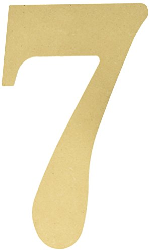 MPI MDF Classic Font Wood Letters and Numbers, 9.5-Inch, Number-7