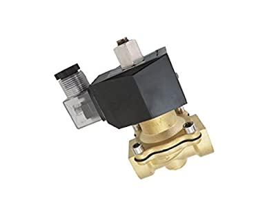 3/4 inch NORMALLY OPEN NO 12V DC VDC Brass Solenoid Valve NPT by CARBEX