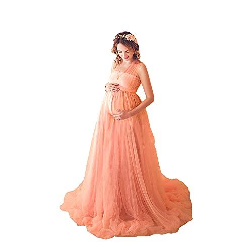 ZLZNX Mujeres embarazadas sesión de fotos vestido sin mangas maternidad boda noche...