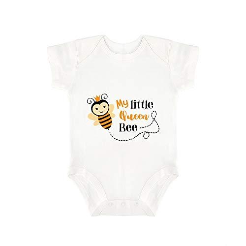 Promini Combinaison pour bébé Mignon My Litlle Queen Bee Body pour bébé Une pièce Barboteuse - Blanc - 18 mois