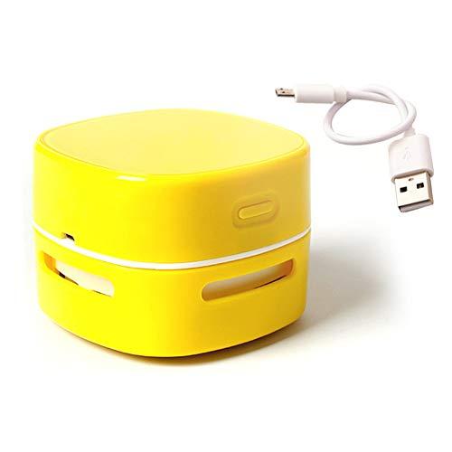 DDZHE draagbare draadloze mini-desktopstofzuiger, draadloze handbureau-stofzuiger voor het toetsenbord op kantoor en thuis geel