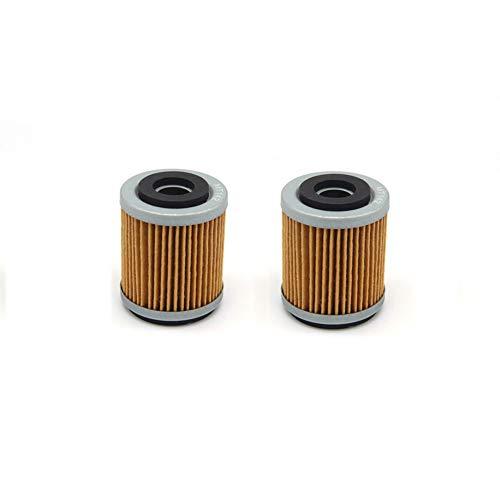 MEXITAL 2 Stück Motorrad Ölfilter oil filter für YFM350R RAPTOR 350 (2004-2007) (2009-2013) YFM400 BIG BEAR IRS 4X4 400 (2007-2012) YFM350R RAPTOR 348 (2008)