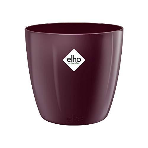 Elho Brussels Diamond Round 16 - Vaso da fiori in velluto, per interni, Ø 15,9 x H 14,6 cm