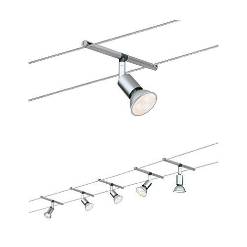 Paulmann 941.24 Seilsystem SpiceSaltLED Set Warmweiß 5x4W LED Chrom 94124 Seilleuchte Hängeleuchte