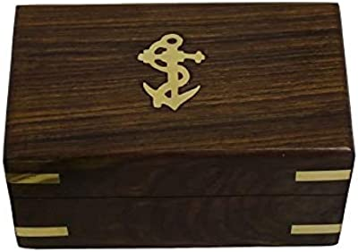 Kothaar Wood Nautical Box Wooden Treasure Chest, Intricate & Meticulous Detailing Art Handcrafted Treasure Chest