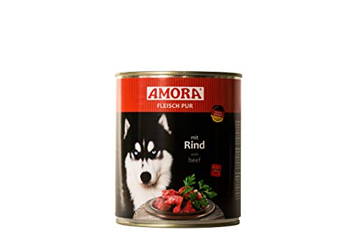 Amora Fleisch Pur Sorte Rind 12 x 800g Hundefutter Nass