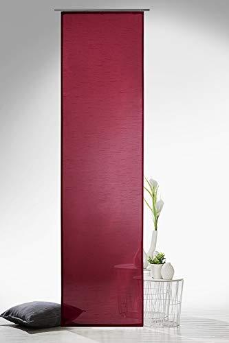 heimtexland Gardinen Schiebegardine Flächenvorhang Flächengardine Schiebevorhang, Farbe Rot, Höhe 245cm x Breite 60cm Typ118