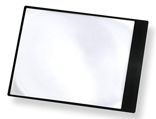 Carson Fresnel 2x Flexible Page Magnifier for Reading Books, Newspapers, Magazines, Maps, Menus, Hobby, Crafts and Tasks (DM-11)