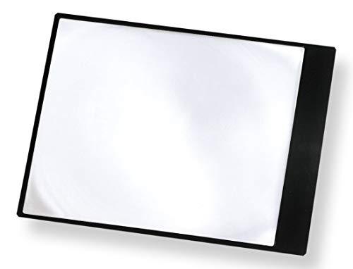 Carson DM-11 MagniSheet Vergrößerungsrahmen mit flexibler Fresnel-Linse im Ganzseiten-Format und 2-facher Vergrößerung – schwarz/durchsichtig
