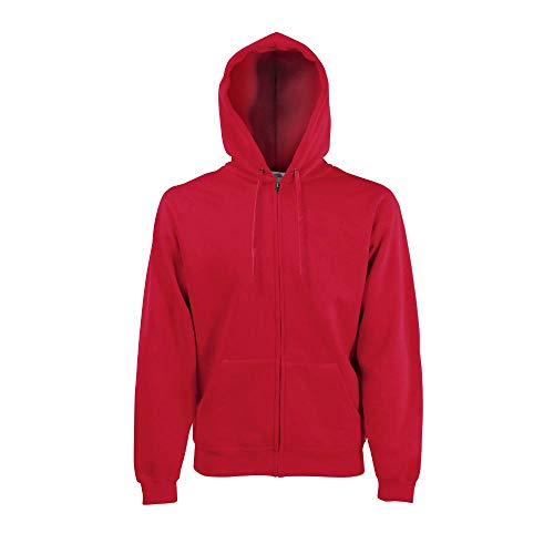 Fruit of the Loom - Hooded Sweat Jacket - Modell 2013 XXL,Red