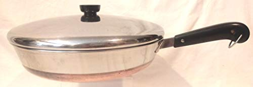 """12"""" Revere Ware Copper Clad Frying Pan with Lid"""