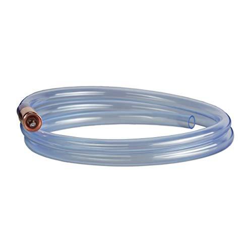 Relaxdays Pumpschlauch 187 cm Länge, Schüttelpumpe zum Umfüllen von Flüssigkeiten, manuelle Handpumpe, transparent