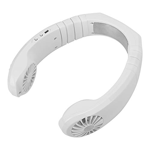 Ventilatore da Collo, Ventilatore da Collo sospeso Condizionatore d'Aria Portatile per l'aula dell'ufficio all'aperto(Bianca, Insetto)