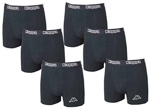Kappa - 6er Pack Sets Herren Boxershorts Unterhose Slip Sets (Schwarz, S)