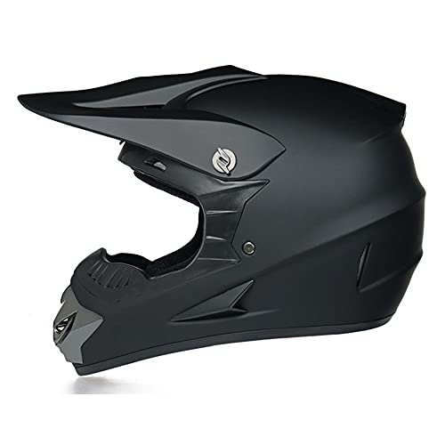 GENGJ Casco de motocicleta para casco de motocicleta para niños completo con vehículo eléctrico de carretera pequeño casco de campo traviesa, L