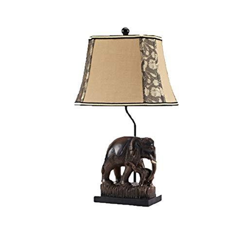 Casual Lámpara de Mesa de Estilo Europeo, lámpara de Mesa Retro Lámpara de Mesa de Elefante del país Americano Sudeste de Asia 010 MXJ61