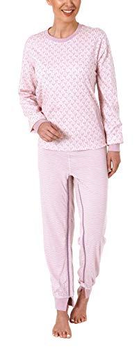 Normann Care Damen Pflegeoverall Langarm mit Reißverschluss am Rücken und am Bein 291 270 90 102, Farbe:Rose, Größe2:XXL