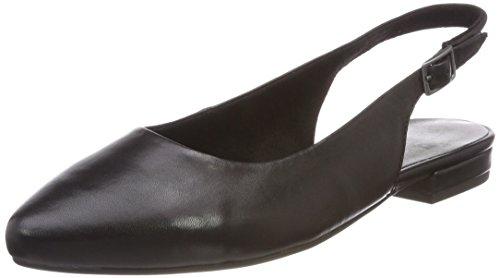 Jana Damen 29401 Slingback sandalen, schwarz (black nappa), 38 EU