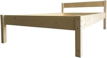 LIEGEWERK Seniorenbett erhöhtes Bett Holz mit Kopfteil Betthöhe 55cm Massivholzbett 90 100 120 140 160 180 200 x 200cm hergestellt in BRD…