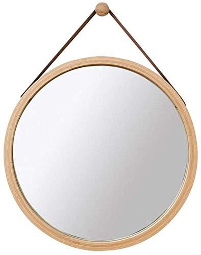 BRFDC Espejos para Maquillarse Espejos de Estilo Minimalista nórdico Moderno, Espejo de cosméticos, Espejo Colgante de Pared con Cuerda Ajustable, Espejo de Afeitado Circular para baño