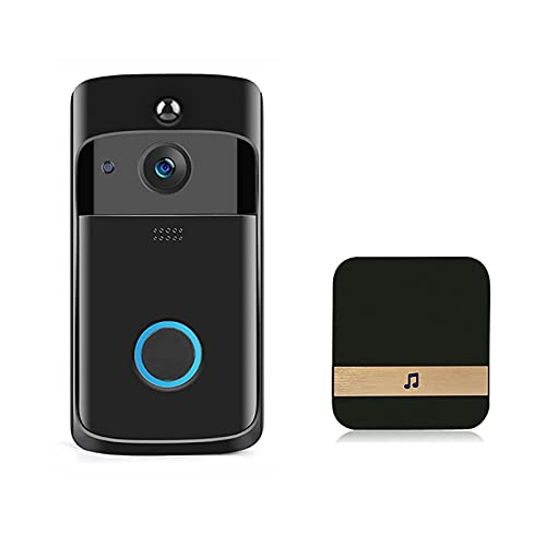 Video Timbre Nuevo Smart WiFi Intercomunicador de Seguridad para el hogar inalámbrico Detección PIR Portero Visible con Timbre(720P) + Timbre
