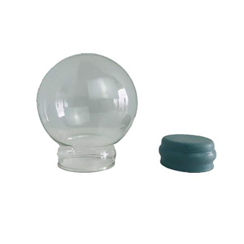 Youda Home Decoration DIY Empty Glass Snow Globe Water Snow Globe Accessories Snow Globe kit (D45mm)