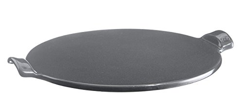 Emile Henry Made in France Flame Top Pizza Stone, Granite. Perfect for Pizzas or Breads. In the Oven, On Top of the BBQ. Safe up to 750 degrees F. 100% Natural Clay, Glazed Surface. Easy to Clean.