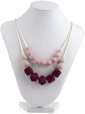 Nuby Baby Teething Trends Double Strand Silicone Beaded Necklace for Moms product image