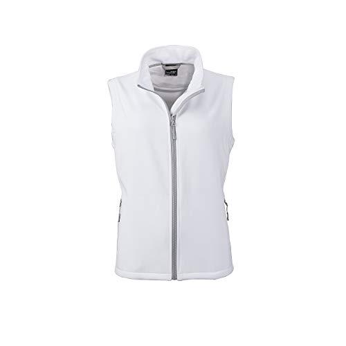 James & Nicholson - Damen Softshellweste für Promotion und Freizeit (XL, White/White)