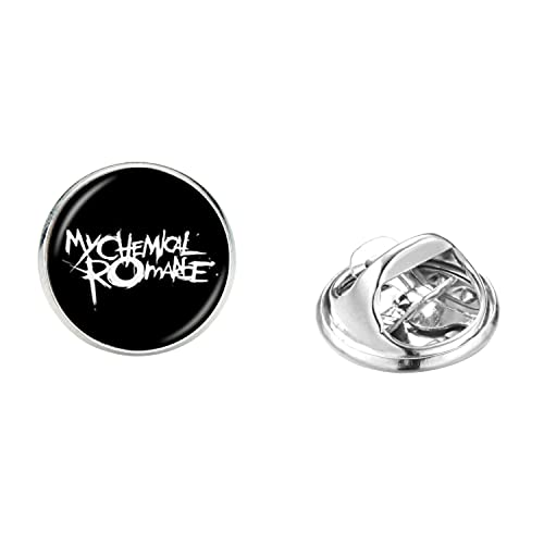 Popular banda insignia broche alta calidad acero inoxidable hombres mujeres mochila collar pin rock música broches