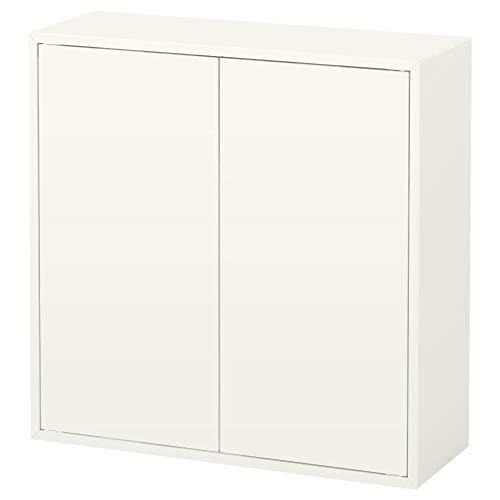 Ikea Schrank mit 2 Türen und 2 Einlegeböden, weiß 828.111420.222